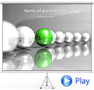 Chain of Balls Animated PowerPoint Template