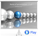 Silver and Blue Sphere Animated PowerPoint Template