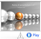 Stylish Sphere Chain Animated PowerPoint Template