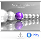 Lilac Sphere Animated PowerPoint Template