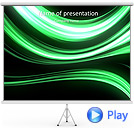 Green Abstract Lines Animated PowerPoint Template
