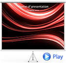 Red Colored Abstract Lines Animated PowerPoint Template