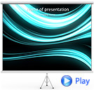 Light Blue Abstraction Animated PowerPoint Template