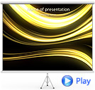 Yellow Abstract Lines Animated PowerPoint Template
