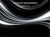 Black And White Abstraction Animated PowerPoint Template - Slide 1