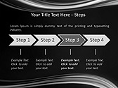 Black And White Abstraction Animated PowerPoint Template - Slide 3