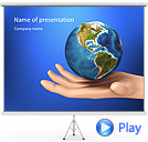 Earth In The Hand Animated PowerPoint Template
