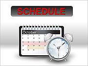 Schedule PPT Diagrams & Chart