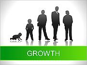 Tillväxt Kartor och diagram för PowerPoint