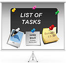 List Of Tasks PPT Diagrams & Chart