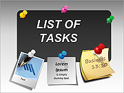 List Of Tasks PPT Diagrams & Charts