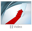 Red Arrow On Stairs Video