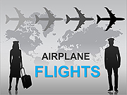 Airplane Flights PPT Diagrams & Chart