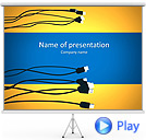 USB Computer Connection Animated PowerPoint Template