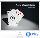 Four Playing Cards Animated PowerPoint Template