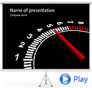 Auto Black And White Speedometer Animated PowerPoint Templates