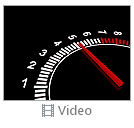 Auto Black And White Speedometer Video