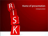 Red Colored Risk Bricks Animated PowerPoint Template - Slide 1