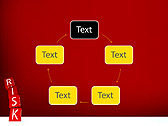 Red Colored Risk Bricks Animated PowerPoint Template - Slide 13