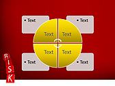 Red Colored Risk Bricks Animated PowerPoint Template - Slide 14