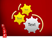 Red Colored Risk Bricks Animated PowerPoint Template - Slide 16