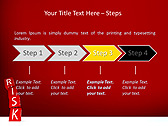 Red Colored Risk Bricks Animated PowerPoint Template - Slide 3