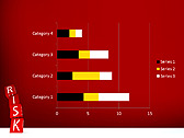Red Colored Risk Bricks Animated PowerPoint Template - Slide 30