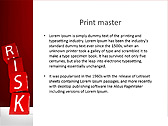 Red Colored Risk Bricks Animated PowerPoint Template - Slide 35