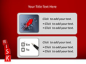 Red Colored Risk Bricks Animated PowerPoint Template - Slide 9