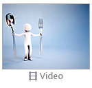 Abstract Man With Spoon And Fork Video