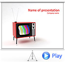 Old Retro Style Tv Animated PowerPoint Template