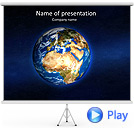 Picture Of The Universe Animated PowerPoint Template