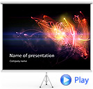 Splash Of Bright Colors Animated PowerPoint Template