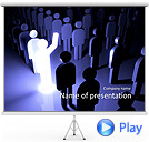 Leader Of The Group Animated PowerPoint Template