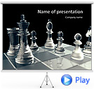 Playing Chess Game Animated PowerPoint Template