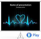 Lover Heart Cardiogram Animated PowerPoint Template