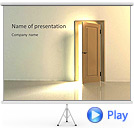Brown Wooden Door Animated PowerPoint Template