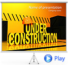 Under Construction Animated PowerPoint Template