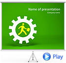 Running Business Animated PowerPoint Template