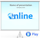 On-Line Sign Animated PowerPoint Template