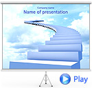 Steps to Heaven Animated PPT Sjablonen