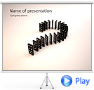 Dominoes Animated PowerPoint Template