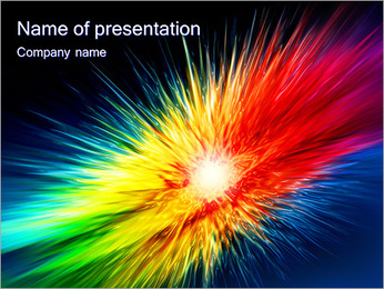 Explosion Of Colors PowerPoint Template