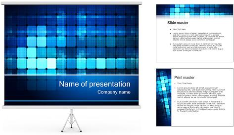 Blue Squares Abstraction Modèles des présentations  PowerPoint