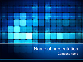 Blue Squares Abstraktion PowerPoint presentationsmallar