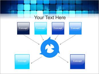 Blue Squares Abstraction Modèles des présentations  PowerPoint - Diapositives 10
