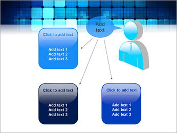 Blue Squares Abstraction Modèles des présentations  PowerPoint - Diapositives 12