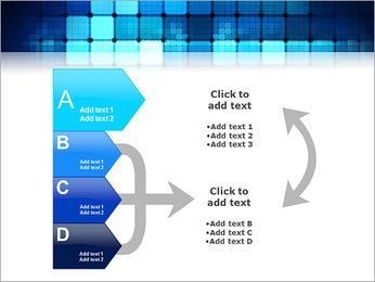 Blue Squares Abstraction Modèles des présentations  PowerPoint - Diapositives 16