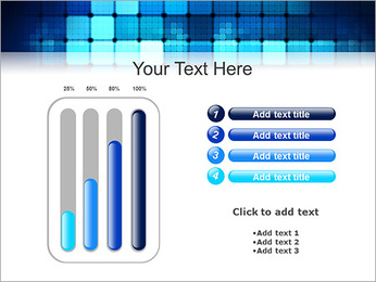 Blue Squares Abstraction Modèles des présentations  PowerPoint - Diapositives 18