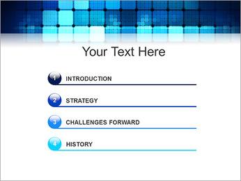 Blue Squares Abstraction Modèles des présentations  PowerPoint - Diapositives 3